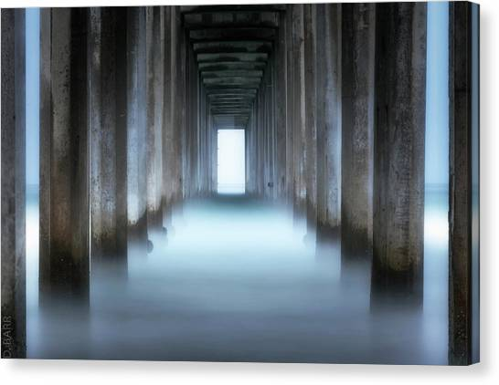 Scripps Pier Canvas Print - Tunnel Vision by Doug Barr