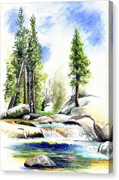 Canvas Print - Tuolumne River On An August Afternoon by Logan Parsons