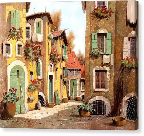 Villages Canvas Print - Tuorlo by Guido Borelli