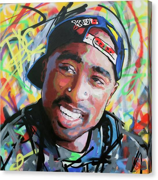 Tupac Portrait Canvas Print