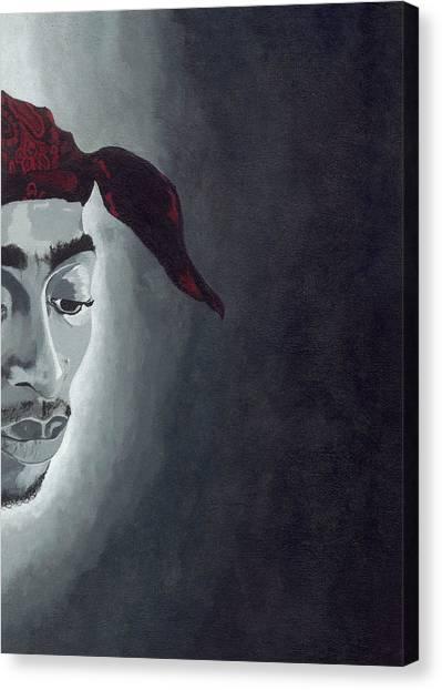 Tupac Canvas Print by Rishanna Finney