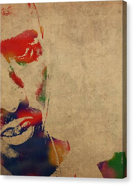 Tupac Canvas Print - Tupac Shakur Watercolor Portrait by Design Turnpike