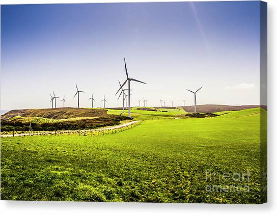 Conservation Canvas Print - Turbine Fields by Jorgo Photography - Wall Art Gallery