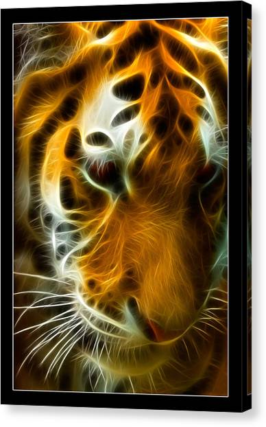 Clemson University Canvas Print - Turbulent Tiger by Ricky Barnard