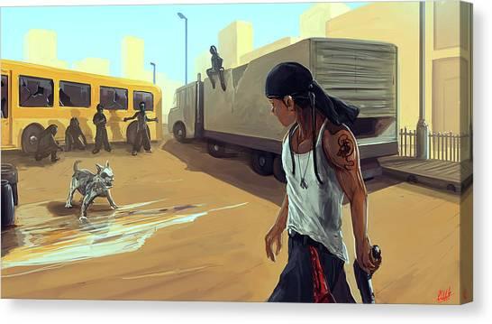 Turf War Canvas Print