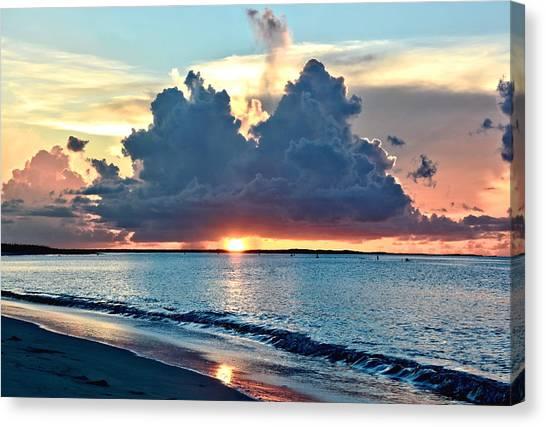Turks And Caicos Grace Bay Beach Sunset Canvas Print