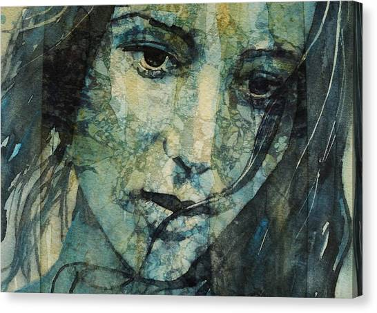 Tear Canvas Print - Turn Down These Voices Inside My Head by Paul Lovering