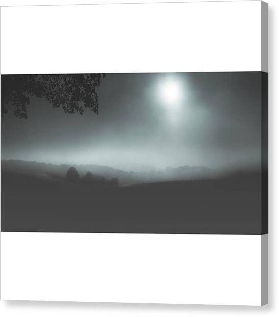 Foggy Forests Canvas Print - Turned A Day Photo Into A Night by Basti Unrau