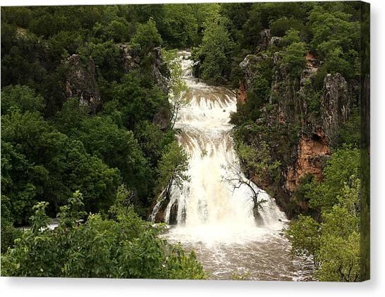 Turner Falls Waterfall Canvas Print
