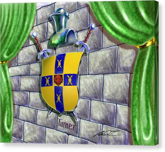 Turner Family Crest Canvas Print