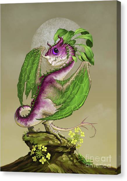 Cricket Canvas Print - Turnip Dragon by Stanley Morrison