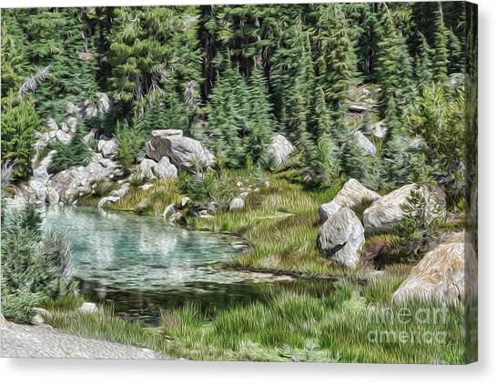Bumpass Canvas Print - Turquoise Pool by Mellissa Ray