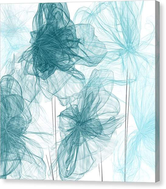 Turquoise In Sync Canvas Print