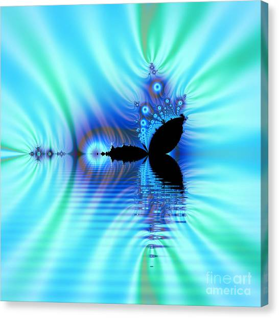 Turquoise Lake Fractal Canvas Print