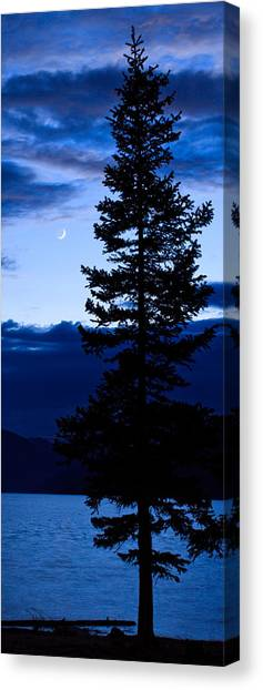 Turquoise Lake Twilight Canvas Print