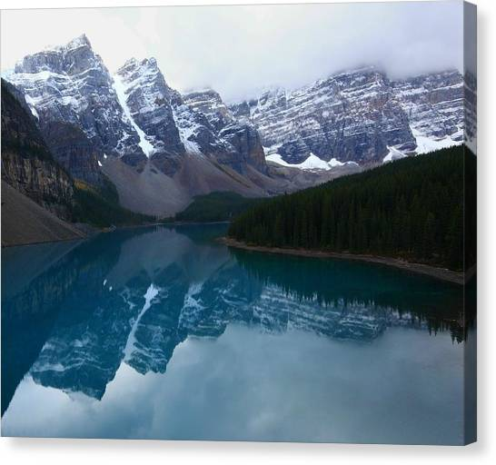 Turquoise Reflection At Moraine Lake Canvas Print