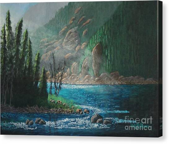 Turquoise River Canvas Print