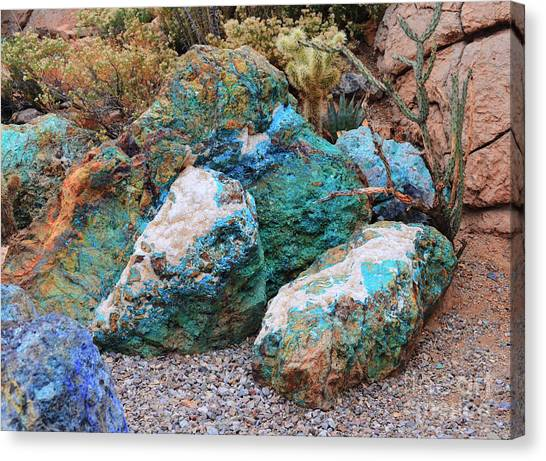 Turquoise Rocks Canvas Print
