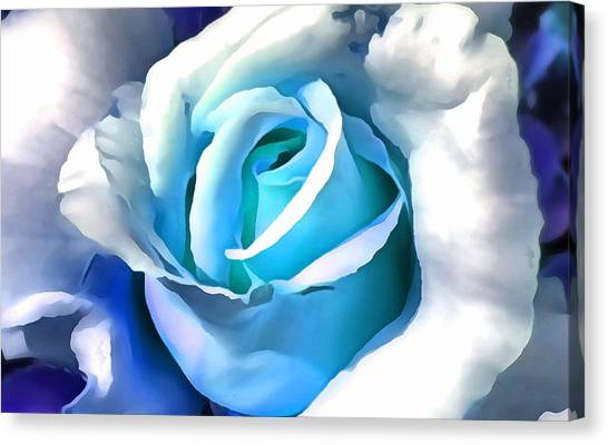 Turquoise Rose Canvas Print