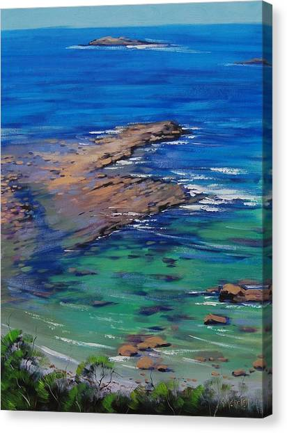 Turquoise Canvas Print - Turquoise Seascape by Graham Gercken