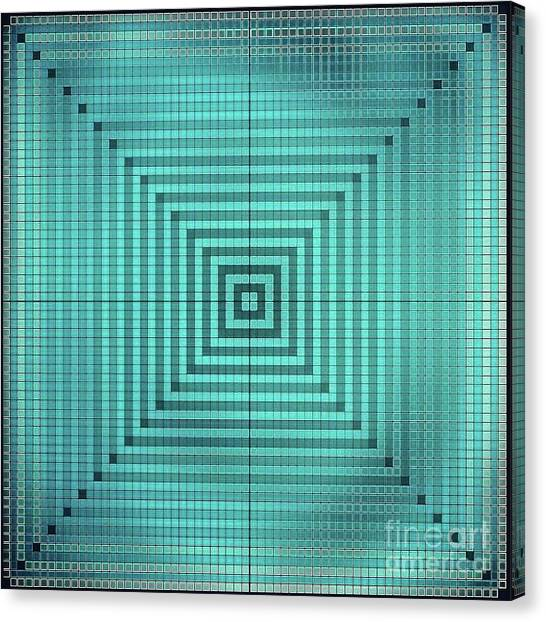 Canvas Print - Turquoise Square by Lisa Marie Towne