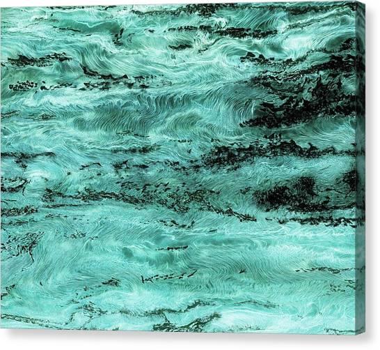 Turquoise Water Canvas Print by Paul Tokarski