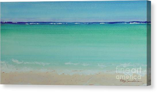 Turquoise Waters Long Abstract Canvas Print