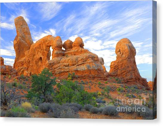 Turret Arch Canvas Print by Dennis Hammer
