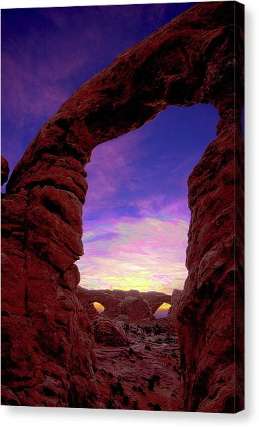Canvas Print featuring the photograph Turret Arch To Windows by Norman Hall