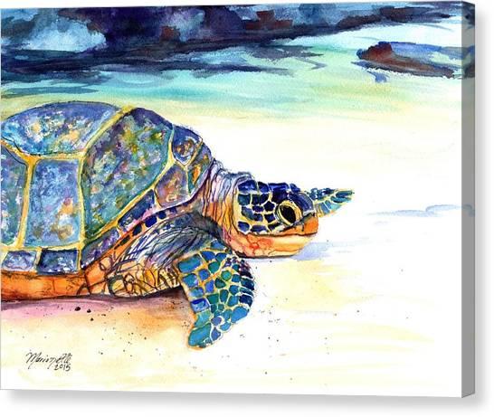 Turtle At Poipu Beach 2 Canvas Print