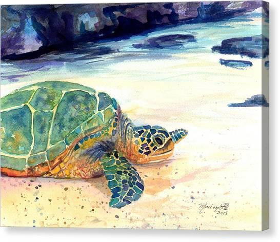 Turtle At Poipu Beach 5 Canvas Print