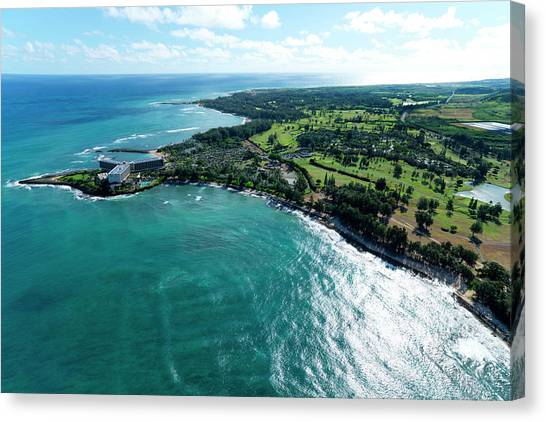 Helicopters Canvas Print - Turtle Bay Glow by Sean Davey