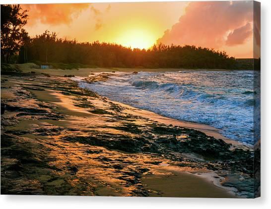 Turtle Bay Sunset 2 Canvas Print