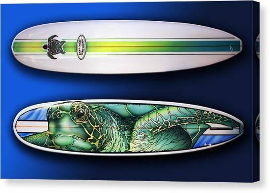 Turtle Board Canvas Print