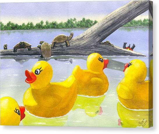 Turtle Log Canvas Print