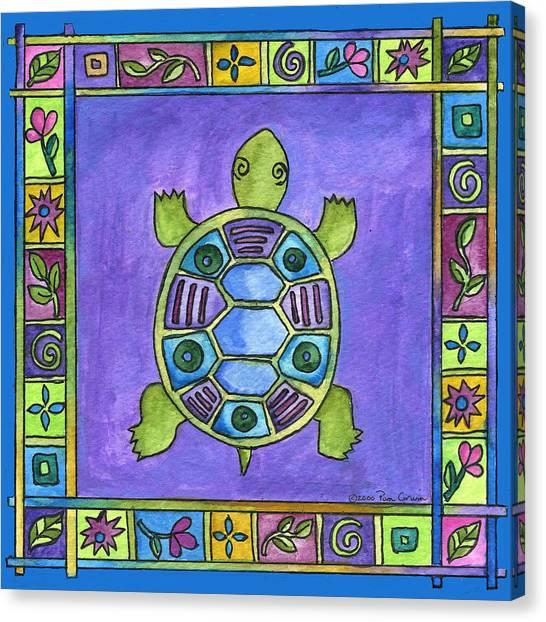 Turtle Canvas Print by Pamela  Corwin