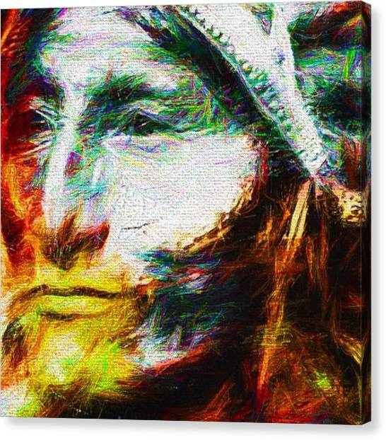 Indians Canvas Print - #turtleisland #nativeamericanindian by David Haskett II