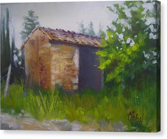 Tuscan Abandoned Farm Shed Canvas Print