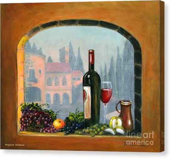 Tuscan Arch Wine Grape Feast Canvas Print
