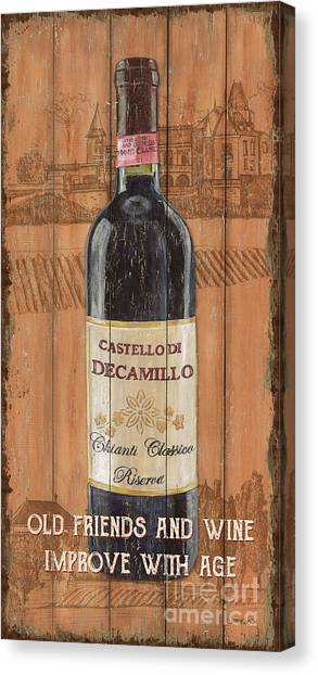Winery Canvas Print - Tuscan Chianti 1 by Debbie DeWitt