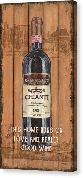 Winery Canvas Print - Tuscan Chianti 2 by Debbie DeWitt