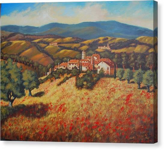 Tuscan Countryside Canvas Print by Santo De Vita