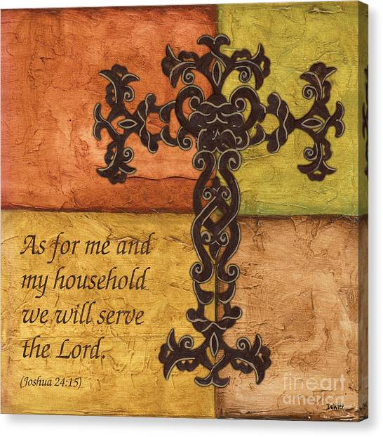 Biblical Canvas Print - Tuscan Cross by Debbie DeWitt