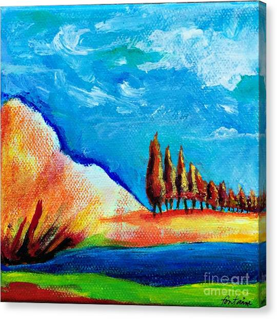 Tuscan Cypress Canvas Print