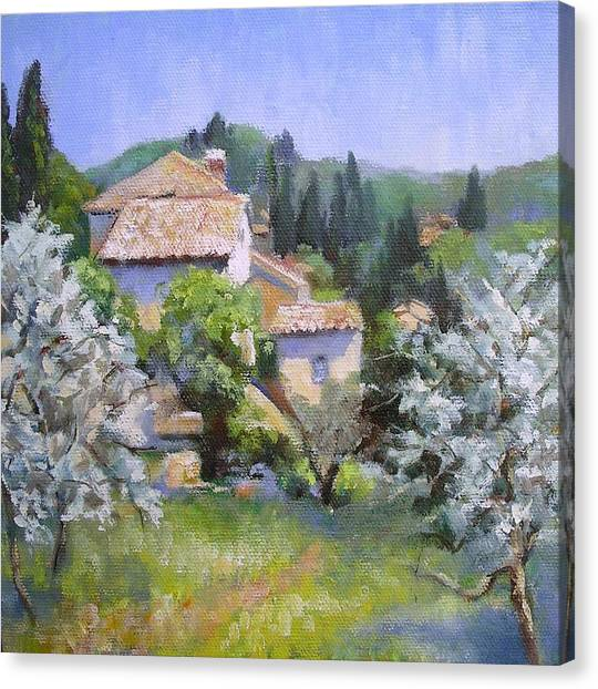Tuscan  Hilltop Village Canvas Print