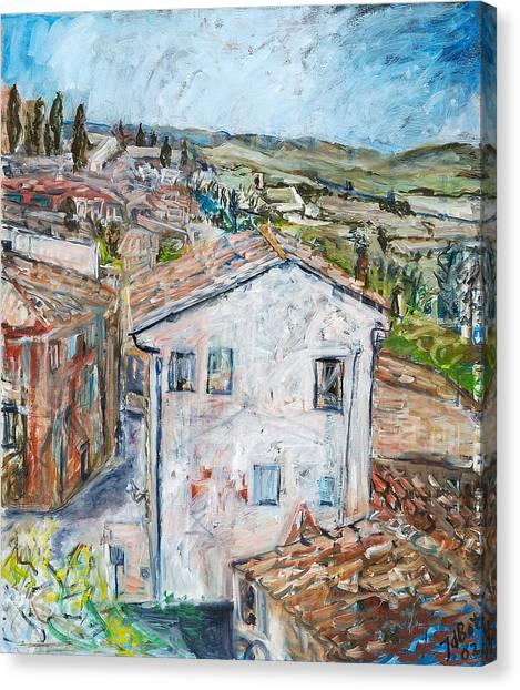 Tuscan House Canvas Print by Joan De Bot