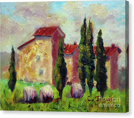 Tuscan House With Hay Canvas Print