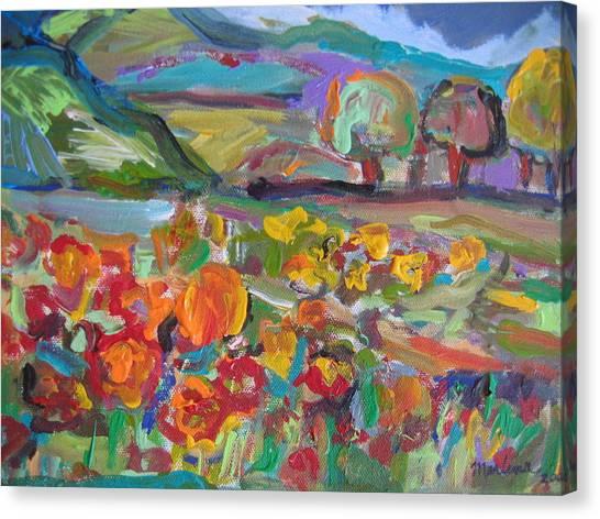 Tuscan Landscape Canvas Print by Marlene Robbins
