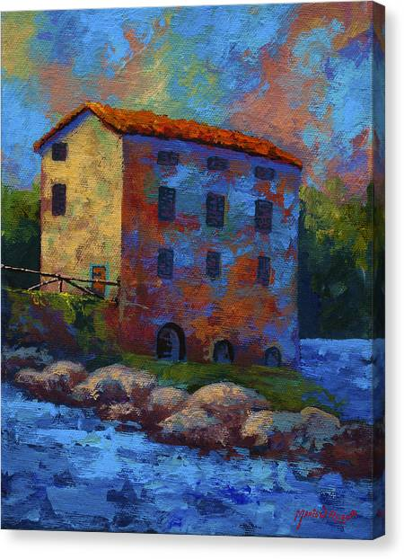 Mill Canvas Print - Tuscan Mill by Marion Rose