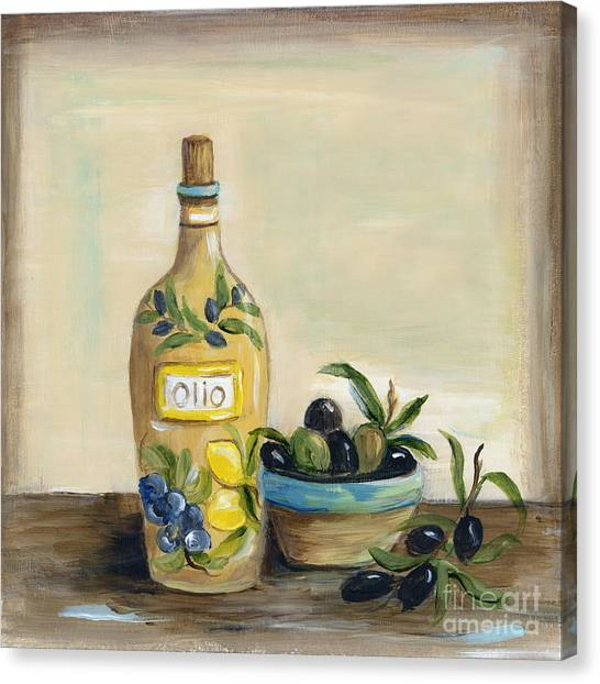 Olive Oil Canvas Print - Tuscan Olive Oil  by Marilyn Dunlap